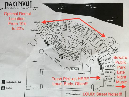 Paki Maui Resort: Paki Maui Map