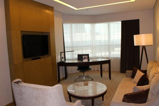 Lounge room with office table