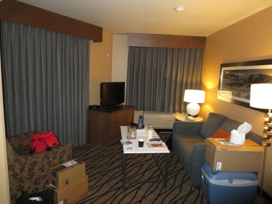 Comfort Inn & Suites Market Place Great Falls : view of living room in suite from door