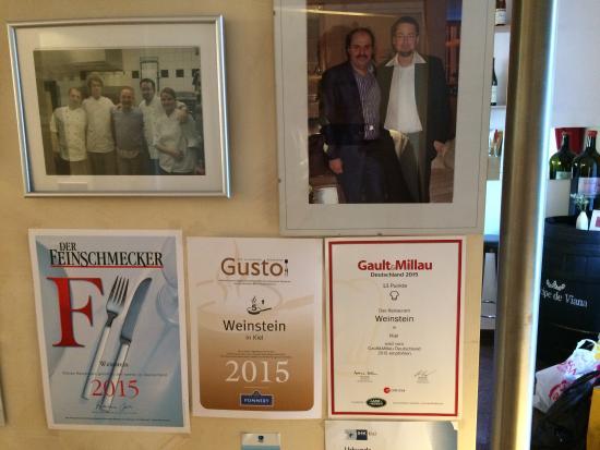 Restaurant Weinstein: Diplomas