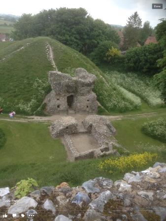 Castle Acre, UK: Overlooking part of wall.