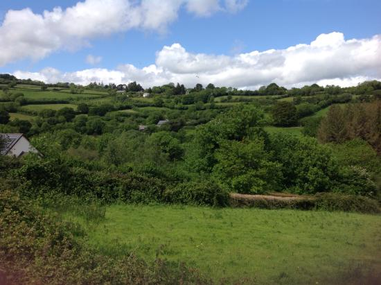 Just part of the beautiful panoramic view from the Tradesman's Arms!