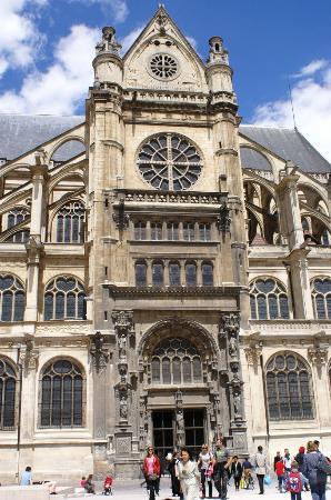 Paris, Frankrike: Eglise Saint Eustache Partie centrale Gothique et Néo Roman
