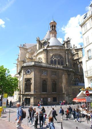 Paris, Frankrike: Eglise Saint Eustache Vue de la Partie Est et Coeur coté Rue Rambuteau