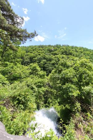 Otome Falls: 乙女滝の落ち口
