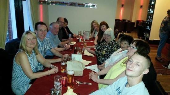 Chadderton, UK : Having fabulous meal