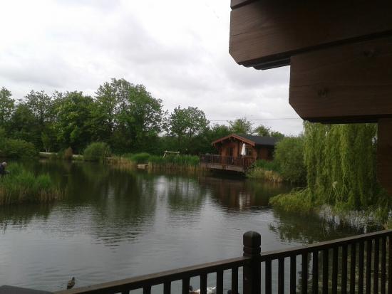 Badwell Ash, UK: across the lake