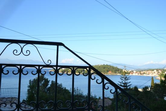 Dimitrios Apartments: Terrace and view