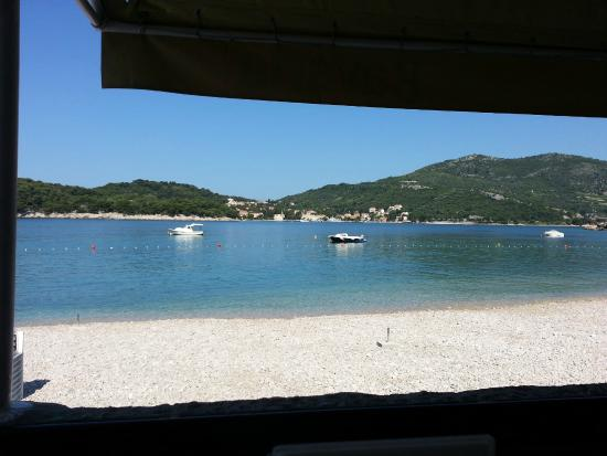 Villa ANA: View from restaurant on beach