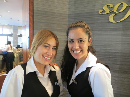 Inbal Jerusalem Hotel: Michal and Ortal from the Sofia Restaurant
