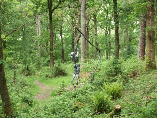 Grizedale, UK: Spooky sculpture in the forest