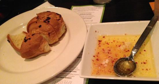 Not Your Average Joe's: Complimentary Gluten Free Rolls with Olive Oil Dip - Yum!