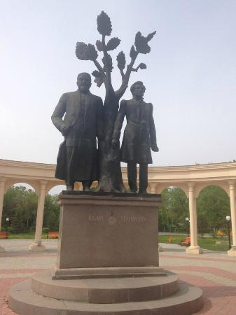 Monument to Pushkin and Abai