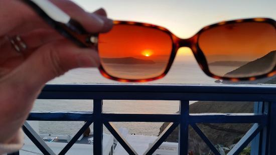 Santorini Reflexions Volcano: sunset from sun deck