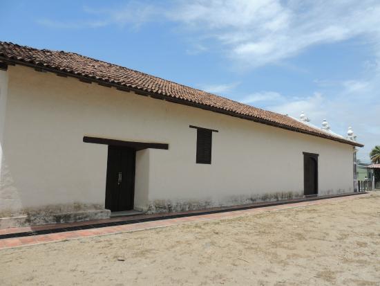 """Church of La Ermita La Agonia: The """"plaza/park"""" side of the church"""