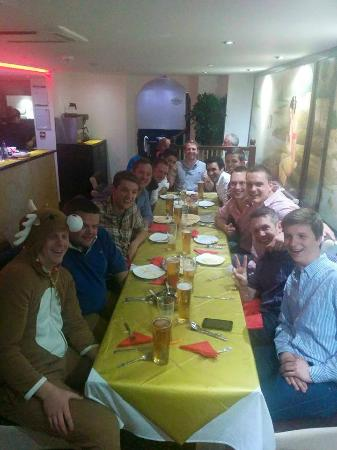 The Curry Garden: The stag party - Rudolph the groom to be
