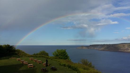 Cliffemount Hotel: Room view with rainbow