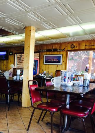 Cowboy cafe, Dubois, Wyoming.  Did I mention it was authentic rustic western look?