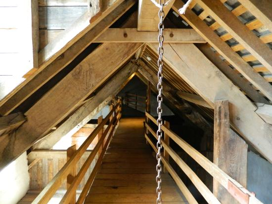 Dunster Working Watermill: The Attic Grain Storage