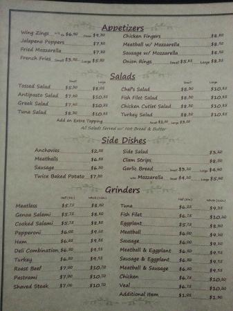 Terryville, CT: our menu pg1