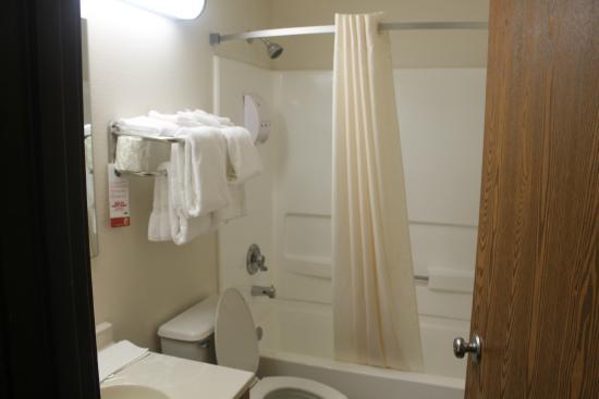 Super 8 Hampton: Bathroom was so so.