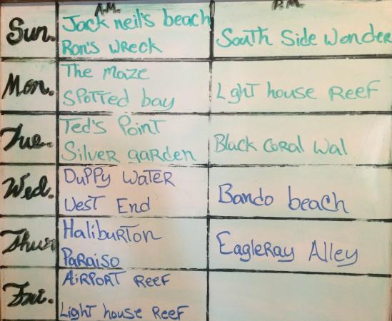 Utila Lodge: Dive Site Summary