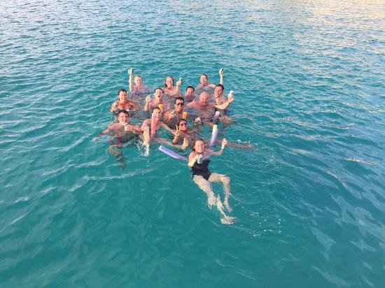 Simpson Bay, Saint-Martin / Sint Maarten: Taking a swim during the trip