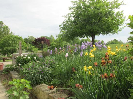 Bear Run Inn Cabins & Cottages: Beautiful gardens at Bear Run  Inn