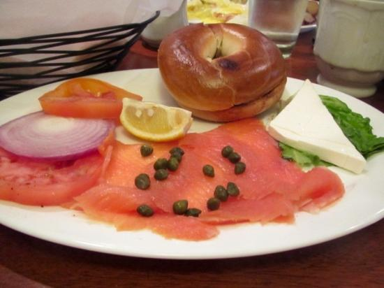 Bread & Chocolate: Smoked Salmon and Bagel