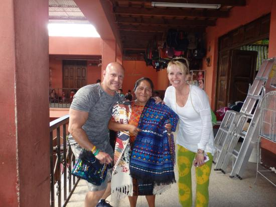 Gray Line Guatemala: Buying items from a Mayan woman