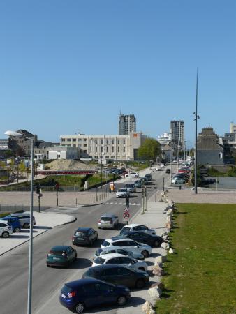 blick aus dem zimmer fotograf 237 a de appart city cherbourg centre port cherbourg tripadvisor