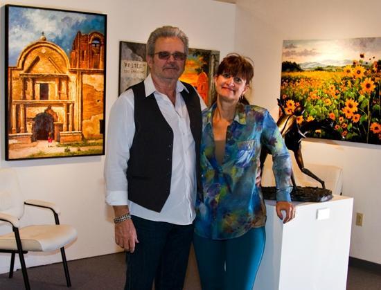 Karl & Audrey Hoffman artists/owners of art gallery H