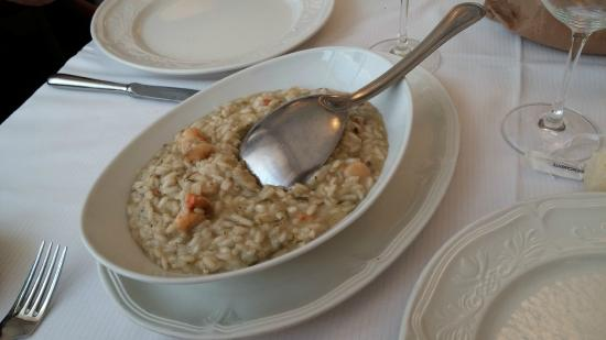 Tencarola, Italië: risotto bustrangoli e capesante