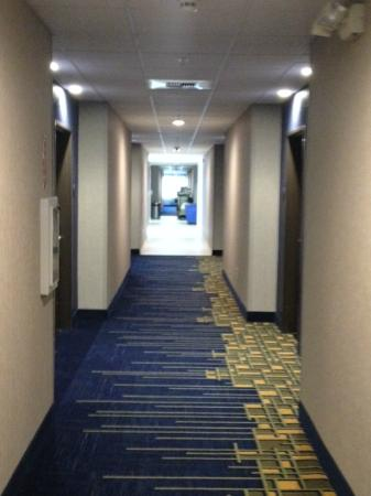 Holiday Inn Express Rocklin - Galleria Area: Bright hallway