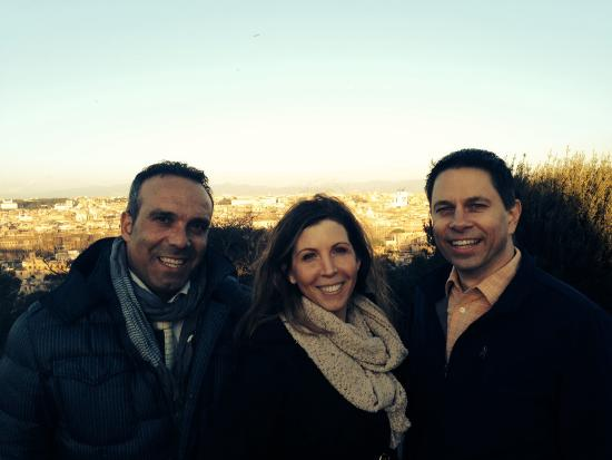 Day Tour in Italy: The end of our tour with Domenico, overlooking Rome.