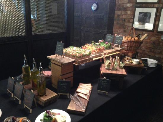 Victory Chop & Ale House: Starter Buffet Table