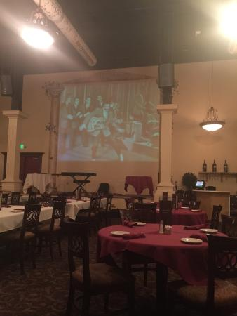DiCiccos Eclectic Atmosphere New Jersey Italian Decor With A Giant Screen