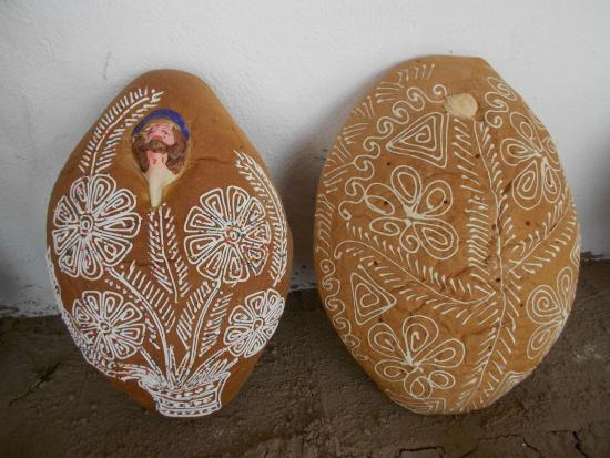 Casa Linda : The traditional bread baked around The Day of the Dead: to be found back on many altars.