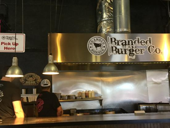 Branded Burger Co: The open cooking station allows you to watch your food being cooked & they serve it fresh and ho