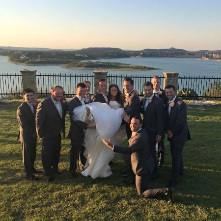 Cliffs at Possum Kingdom: fun pictures after the ceremony