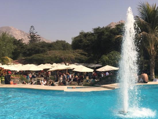 Desde la piscina del campestre picture of restaurante - Lucia la piedra piscina ...