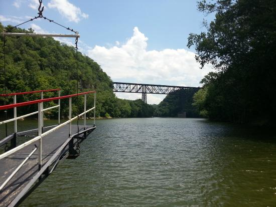 Dixie Belle Riverboat Rides: View of High Bridge