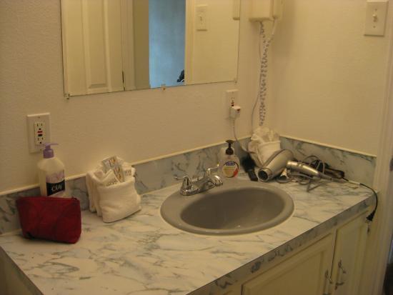 The #1 Coastal Inn and Suites : Bathroom sink area