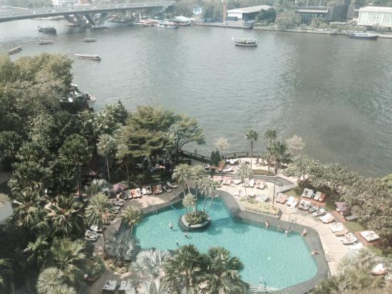โรงแรมแมนดาริน โอเรียนเต็ล กรุงเทพ: Vista do quarto