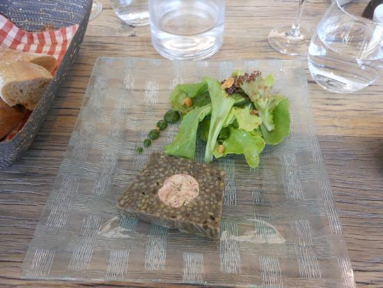 Hotel Les Glycines: Lentils terrine