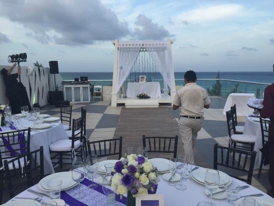 The Fives Azul Beach Resort Playa Del Carmen Wedding Time On Sky Deck