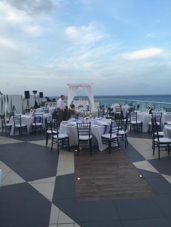 The Fives Azul Beach Resort Playa Del Carmen Sky Deck Wedding