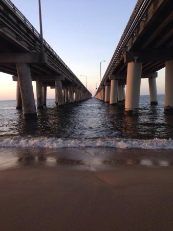 S Beach Walk Under The Chesapeake Bay Bridge