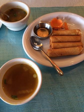 Thai Time Cafe: Spring rolls!