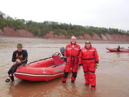 Shubenacadie River Runners: Standing on a sand bar in the middle of the Shubenacadie River, waiting for the tide